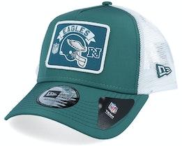 Philadelphia Eagles Wordmark A-Frame Green/White Trucker - New Era