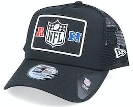 NFL Wordmark Black/White Trucker - New Era
