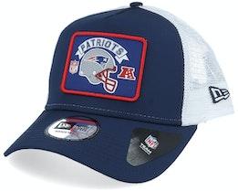 New England Patriots NFL Wordmark Navy/White Trucker - New Era
