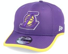 LA Lakers Piping Detail 9Fifty Purple/Yellow Adjustable - New Era