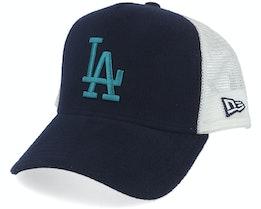 Los Angeles Dodgers A-Frame Felt Navy/White Trucker - New Era