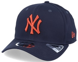 New York Yankees League Essential 9Fifty Stretch Snap Navy/Rust Adjustable - New Era