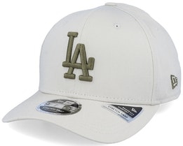 Los Angeles Dodgers League Essential 9Fifty Stretch Snap Sand/Olive Adjustable - New Era