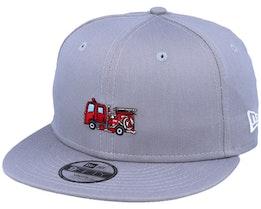 Kids Transport Fire 9Fifty Grey/Red Snapback - New Era