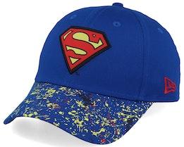 Kids Splatter 9Forty Superman Blue/Yellow Adjustable - New Era