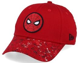 Kids Splatter 9Forty Spiderman Red/Black Adjustable - New Era