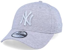 New York Yankees Jersey Essential 39Thirty Heather Grey/Silver Flexfit - New Era