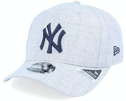 New York Yankees Heather Base 9Fifty Stretch Snap Heather Grey/Navy Adjustable - New Era