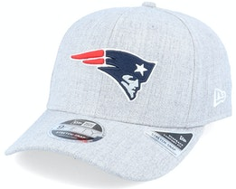 New England Patriots Heather Base 9Fifty Stretch Snap Heather Grey/Navy Adjustable - New Era