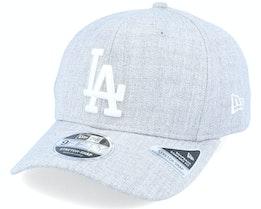 Los Angeles Dodgers Heather Base 9Fifty Heather Grey/White Adjustable - New Era