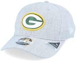 Green Bay Packers Heather Base 9Fifty Stretch Snap Heather Grey/Green Adjustable - New Era