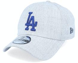 Los Angeles Dodgers Heather 39Thirty Heather Grey/Blue Flexfit - New Era