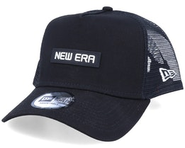Essential A-Frame Box Logo Black Trucker - New Era