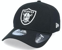 Oakland Raiders Diamond Era Essential 39Thirty Black/White Flexfit - New Era