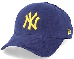 New York Yankees Corduroy Pack 9Forty Navy/Yellow Adjustable - New Era