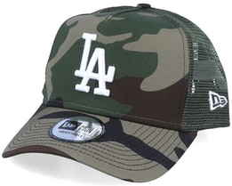 Los Angeles Dodgers Essential A-Frame Camo/Olive Trucker - New Era