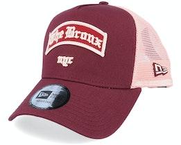 The Bronx Borough A-Frame Maroon/Pink Trucker - New Era