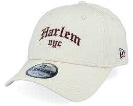 Harlem Borough 9Forty Beige/Maroon Adjustable - New Era