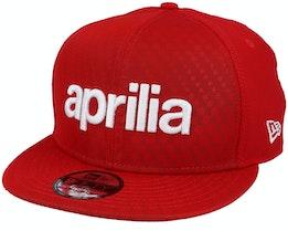 Aprilia SP20 Script 9Fifty Scarlet Red/White Snapback - New Era