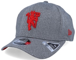 Manchester United 9Fifty Jersey Stretch Snap Heather Grey/Red Adjustable - New Era