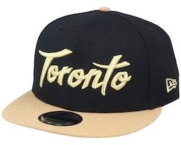 Toronto Raptors 9Fifty Black/Gold Snapback - New Era