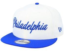 Philadelphia 76ers 9Fifty White/Blue Snapback - New Era