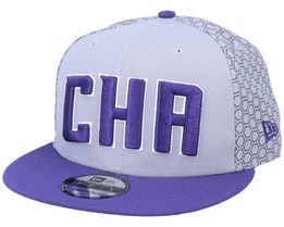 Charlotte Hornets 9Fifty Grey/Purple Snapback - New Era
