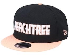 Atlanta Hawks 9Fifty Black/Peach Snapback - New Era