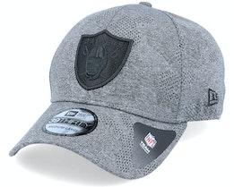 Las Vegas Raiders Engineered Plus 39Thirty Heather Grey/Black Flexfit - New Era