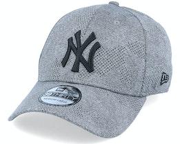 New York Yankees Engineered Plus 39Thirty Heather Grey/Black Flexfit - New Era