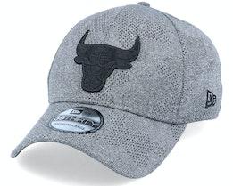 Chicago Bulls Engineered Plus 39Thirty Heather Grey/Black Flexfit - New Era