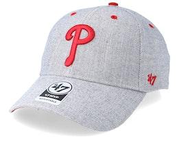 Philadelphia Phillies Storm Cloud 47 Mvp Wool Charcoal Adjustable - 47 Brand