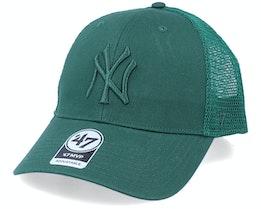 New York Yankees Branson Mvp Dark Green Trucker - 47 Brand