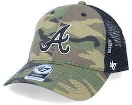 Atlanta Braves Branson Mvp Camo/Black Trucker - 47 Brand