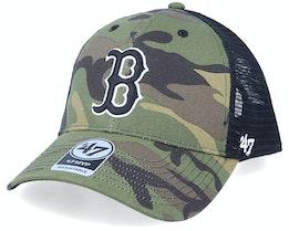 Boston Red Sox Branson Mvp Camo/Black Trucker - 47 Brand