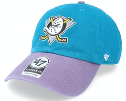 Anaheim Ducks Two Tone Clean Up Label Dk Teal Dad Cap - 47 Brand