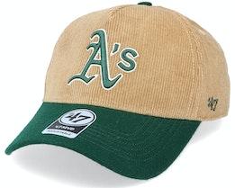 Oakland Athletics Corduroy Mvp DT Khaki/Green Adjustable - 47 Brand