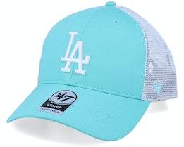 Los Angeles Dodgers Flagship Mvp Tiffany Blue/White Trucker - 47 Brand