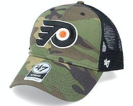 Philadelphia Flyers Camo Branson Mvp Green Camo/Black Trucker - 47 Brand