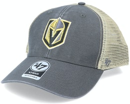 Vegas Golden Knights Flagship Wash Mvp Charcoal/Beige Trucker - 47 Brand