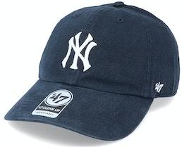 New York Yankees Upland Clean Up Dad Cap Vintage Black Adjustable - 47 Brand