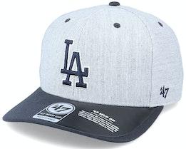 Los Angeles Dodgers Storm Cloud TT Mvp DP Heather Grey/Navy Adjustable - 47 Brand
