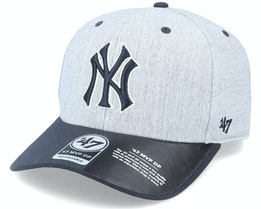 New York Yankees Storm Cloud TT Mvp DP Heather Grey/Navy Adjustable - 47 Brand
