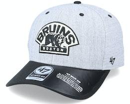 Boston Bruins Storm Cloud TT Mvp DP Heather Grey/Black Adjustable - 47 Brand