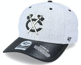 Chicago Blackhawks Storm Cloud TT Mvp DP Heather Grey/Black Adjustable - 47 Brand