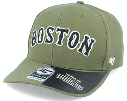 Boston Red Sox Chain Link Script Mvp DP Sandalwood Green/Black Adjustable - 47 Brand