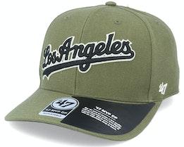 Los Angeles Dodgers Chain Link Script Mvp DP Sandalwood Green/Black Adjustable - 47 Brand