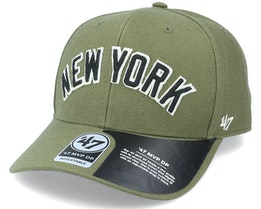 New York Yankees Chain Link Script Mvp DP Sandalwood Green/Black Adjustable - 47 Brand