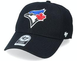 Toronto Blue Jays Mvp Black/White Adjustable - 47 Brand