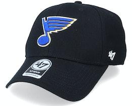 St. Louis Blues Mvp Black/Royal Adjustable - 47 Brand